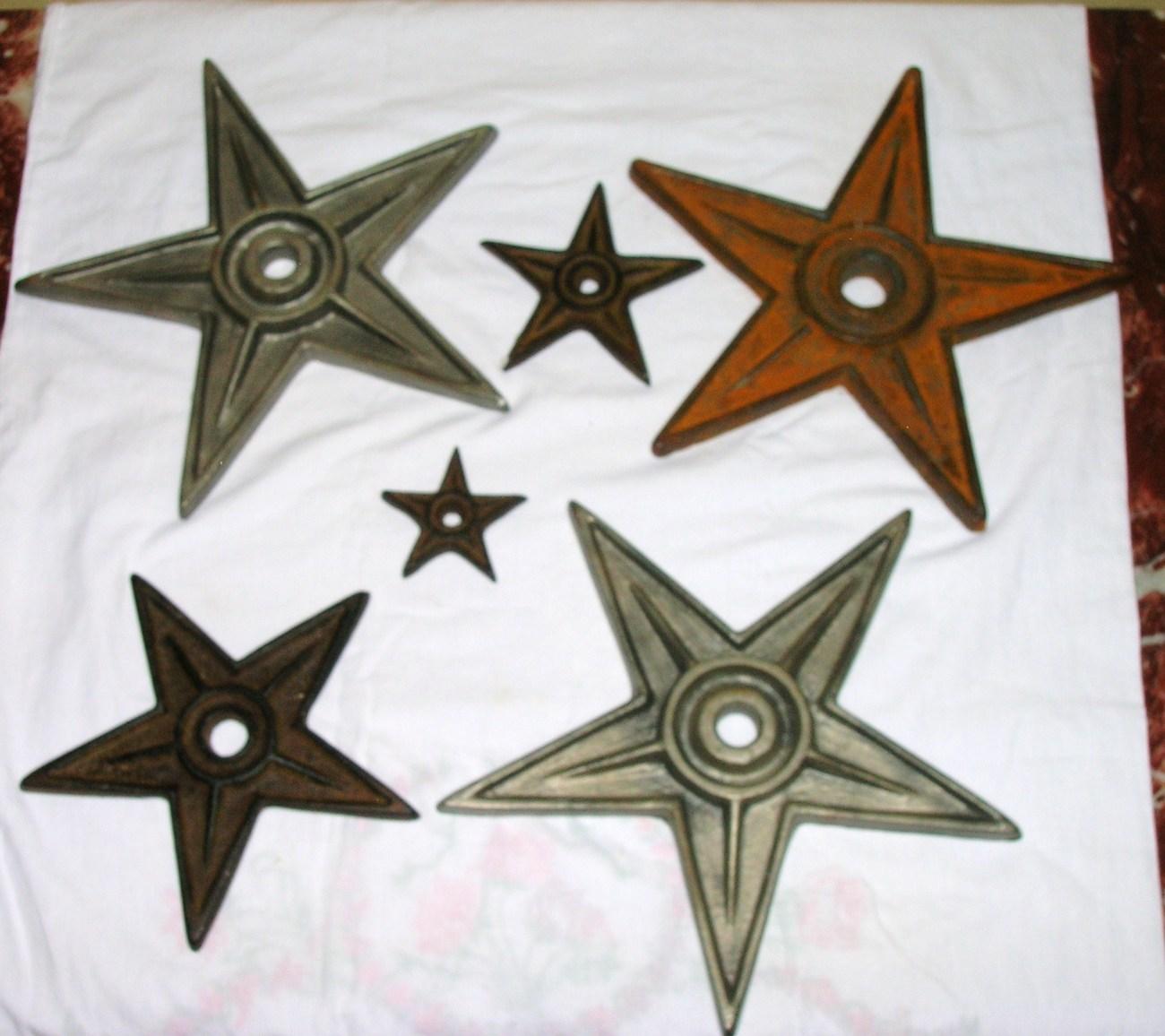 Mirrored Star Wall Decor: HEAVY CAST IRON TEXAS LONE STAR TRIVETS OR WALL DECOR LOT