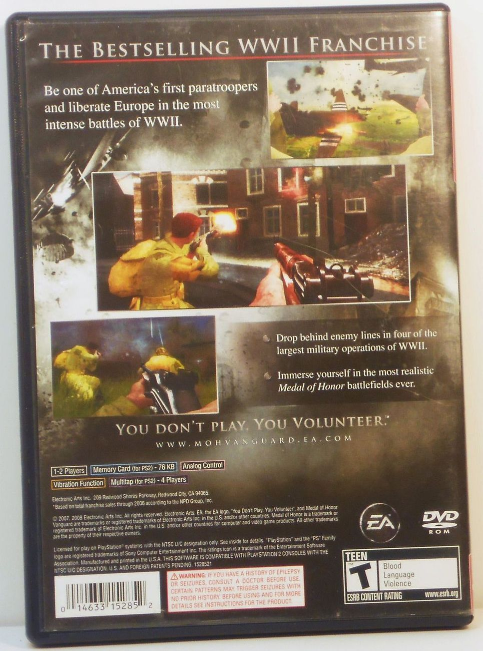 Image 1 of Medal of Honor Vanguard Playstation 2 video game 2007