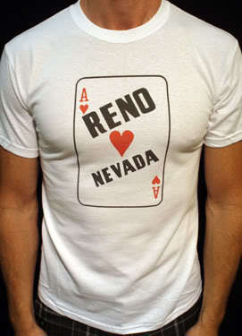 Reno nevada t shirt vintage style casino poker tour love for Reno t shirt printing