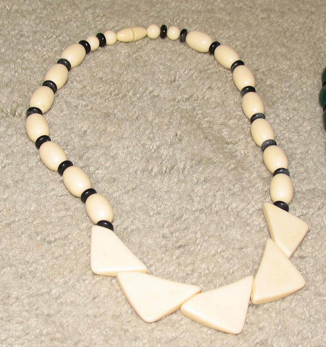 Vintage Unique Costume Jewelry Cream Colored Necklace Bonanza