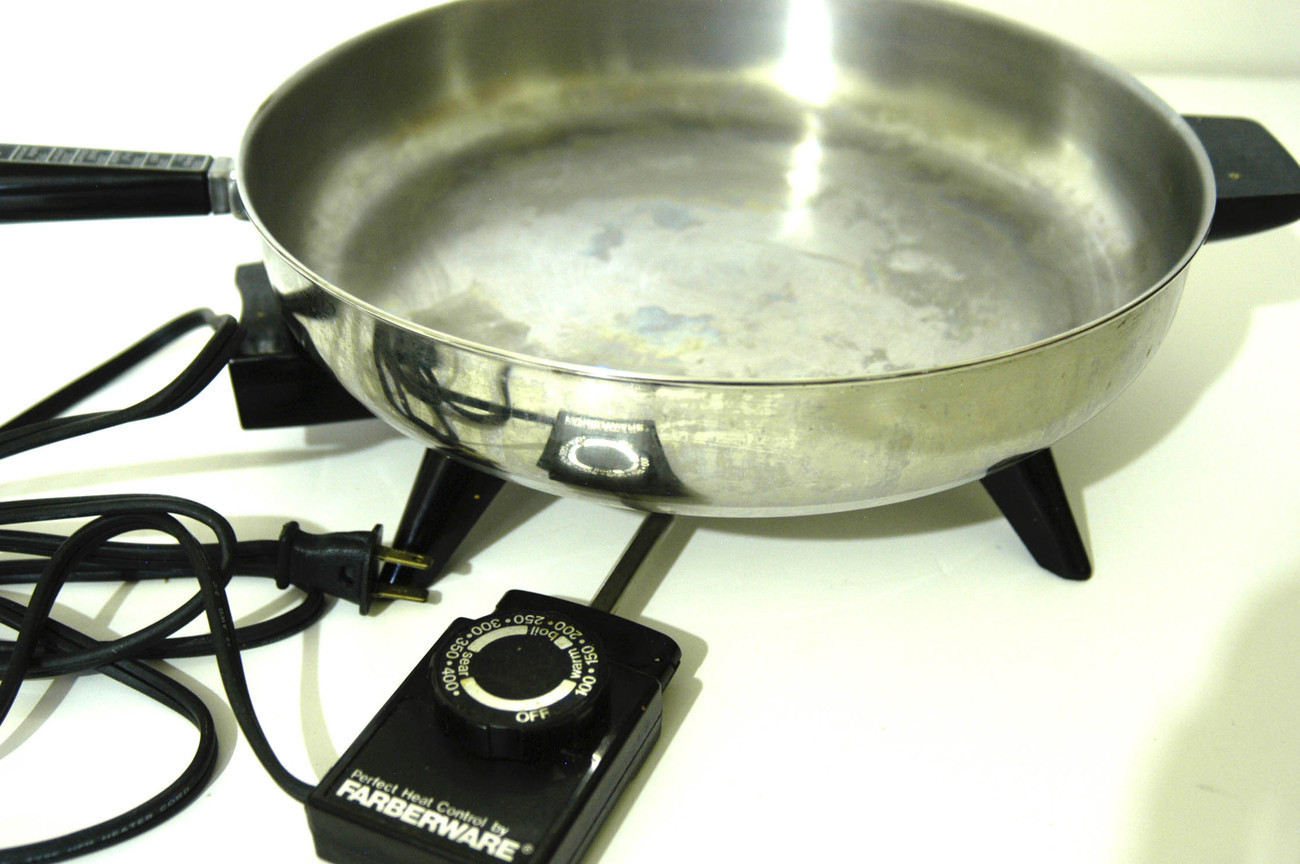Farberware 12 Quot Stainless Steel Electric Fry Pan Dome Lid
