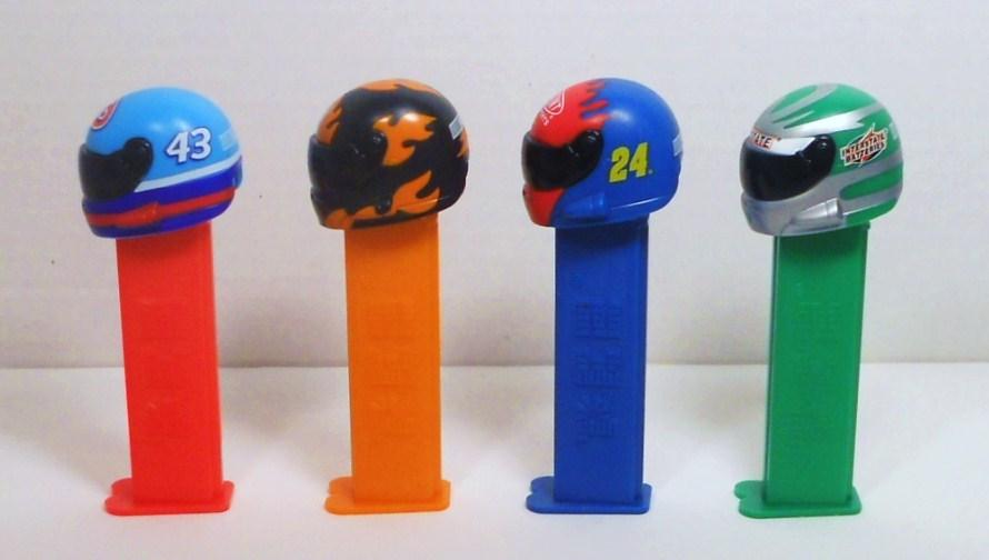 Image 4 of NASCAR Helmet Pez lot of 5 2005 No 43, 17, 24, Dupont, Interstate Battery