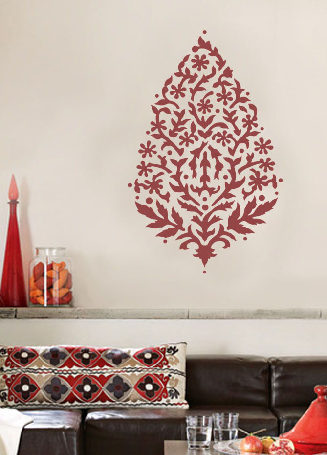 Wall Art Stencil Large Paisley 36 Quot Exotic India Ethnic