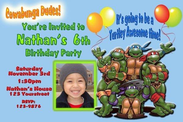 Teenage Mutant Ninja Turtles Invitations was luxury invitations ideas