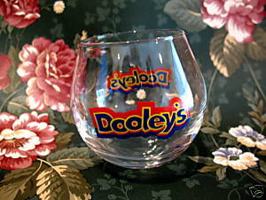 Dooleys Shot Glass Souvenir Toffee Vodka Cream Liqueur No Tip Wobbly Collectible
