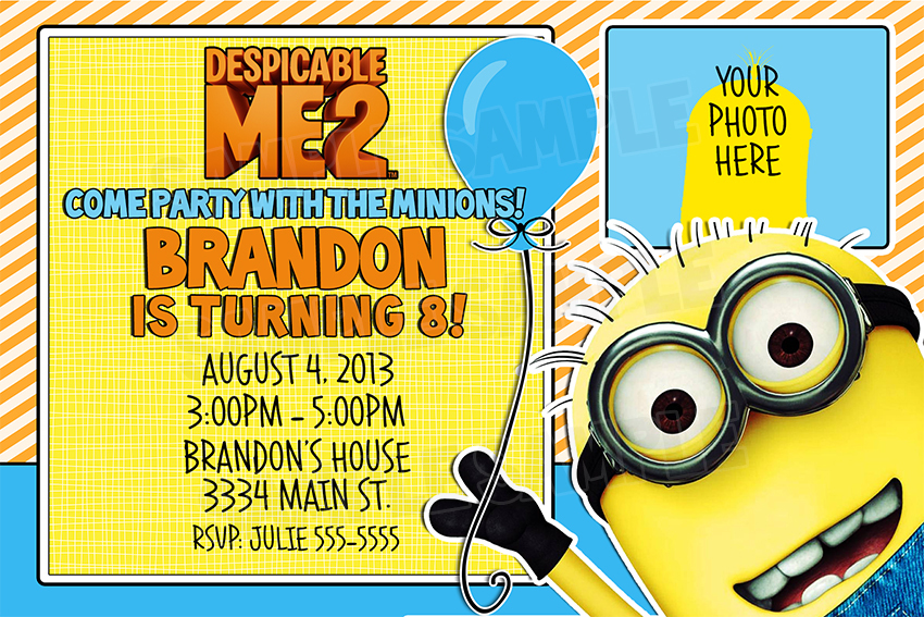 Despicable Me Birthday Invitations as luxury invitation example