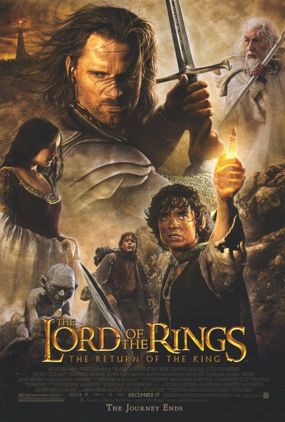 Lord of the Rings Return of the King Original Movie Poster Double Sided 27x40 Bonanza