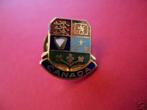 CANADA Lapel Pin Hat Pin Collector Souvenir Vintage Collectible Coat of Arms Bonanza