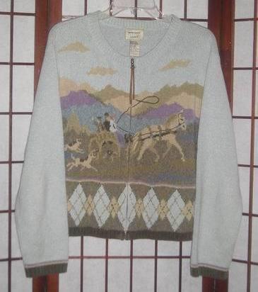 Monterey Petites by Koret zip-front women's sweater sz Petite XL PXL Bonanza