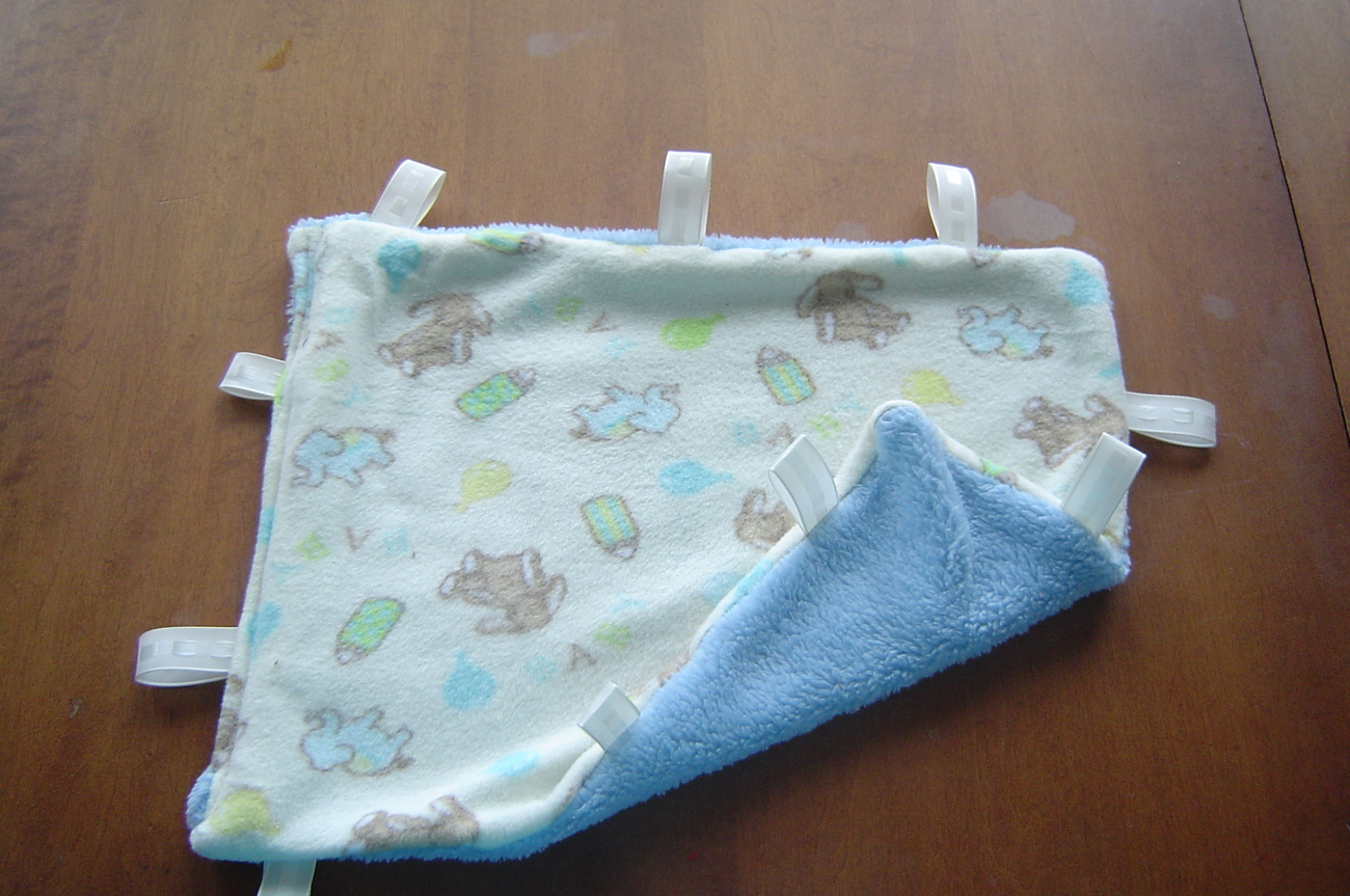 New Handcrafted Plush,Tag Mini Security Blanket-Blue/baby Handmade