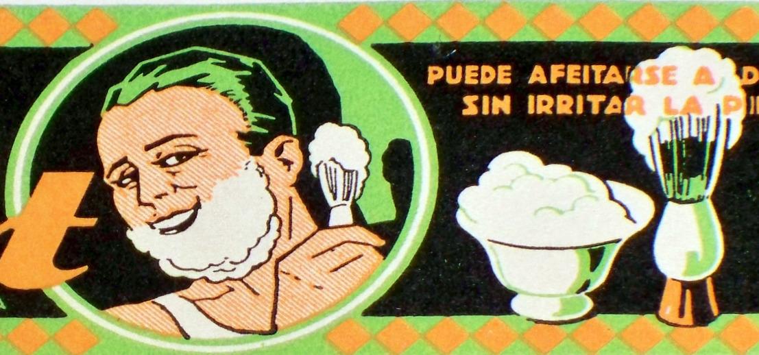 Vintage Deco! Fricot Shaving Cream Label, 1920's  Bonanza