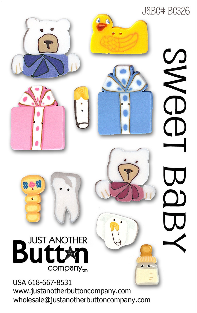 Sweet Baby Button Card Collection BC326 JABC Just Another Button Co