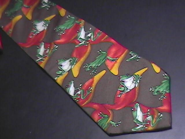 Wild Kingdom Neck Tie Treefrogs A Hoppin' Silk Wild Kingdom