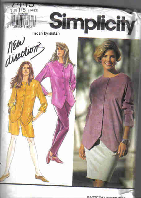 Simplicity 7445 Pattern 14 16 18 20 22 top skirt pants short casual outfit suit Simplicity New Look