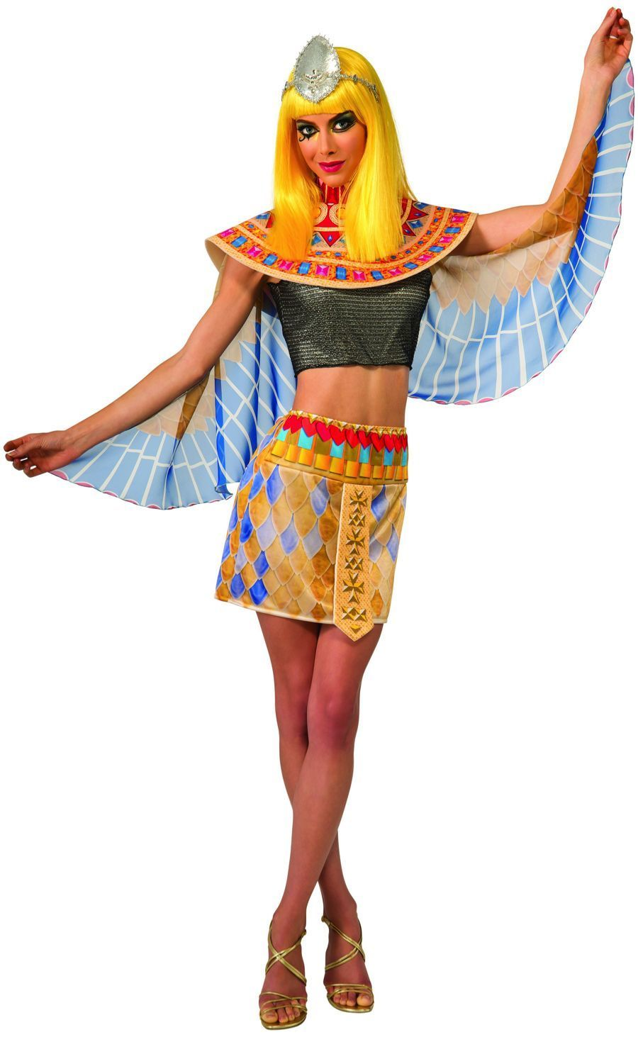 Image 1 of Licensed Katy Perry Dark Horse Rock Star Diva Costume Adult Patra Singer Egypt -