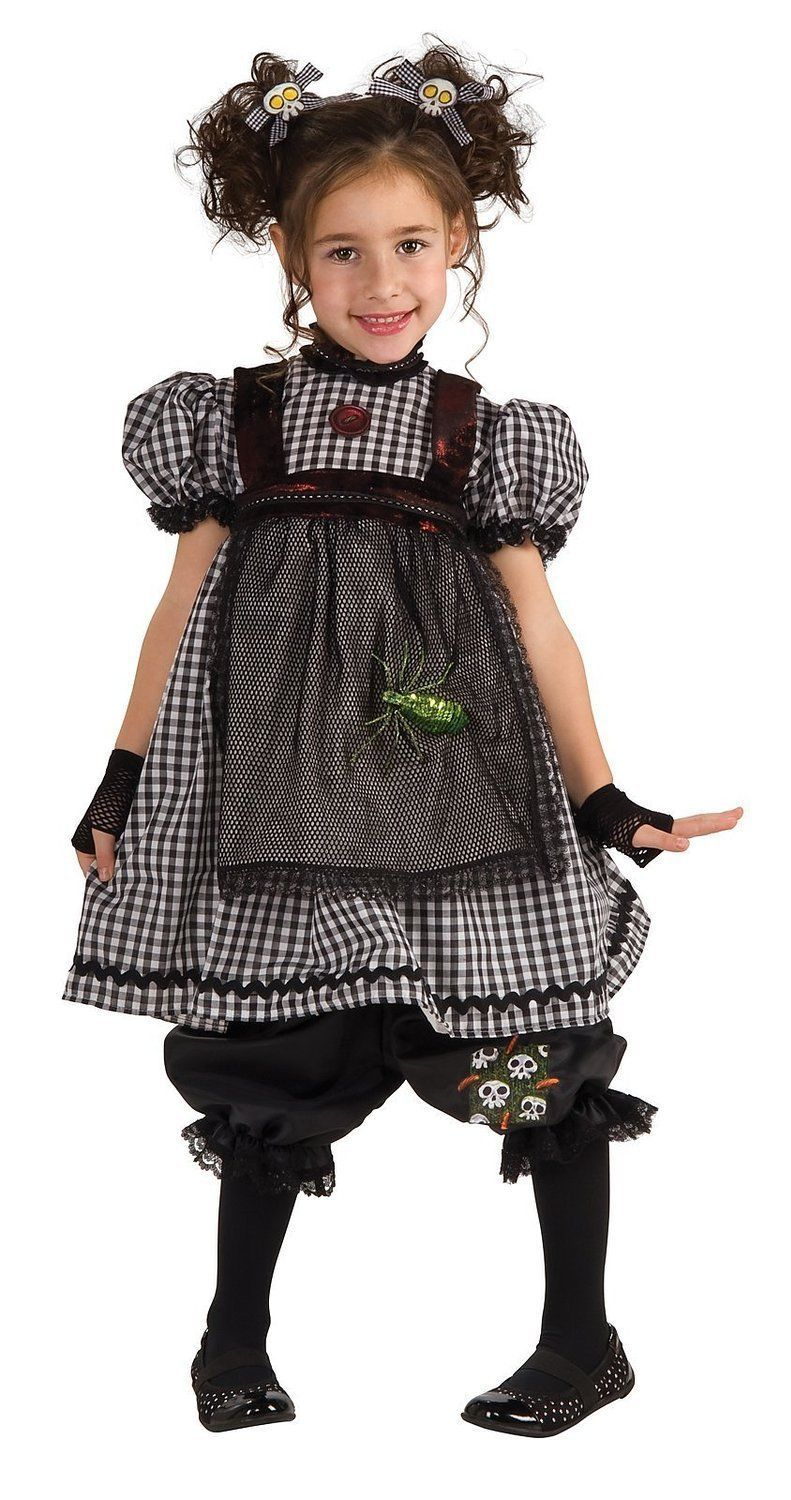 Adorable Fashionista Gothic Rag Doll Girl Costume, Rubies 884738 - Black - Polye