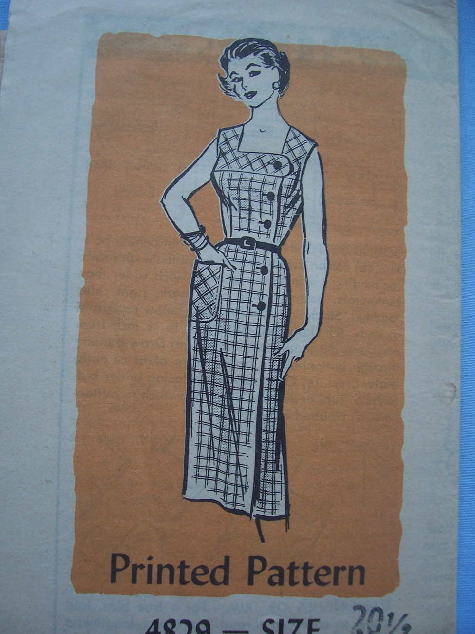 1960's Fitted Summer Dress w/Side Button Closure 20 1/2/41 Other