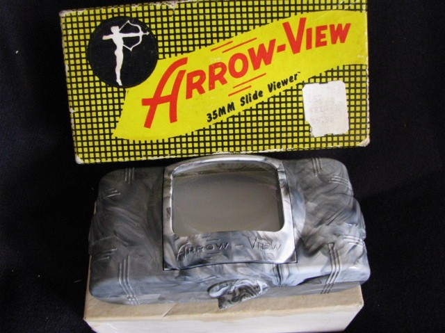 Vintage Arrow View 35mm Slide Viewer Orginal Box FunView Fin