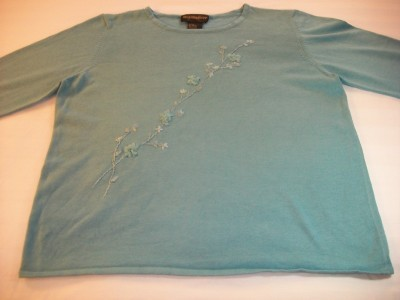 WOMEN REQUIREMENTS TURQUOISE SWEATER XL EXTRA LARGE Requirements