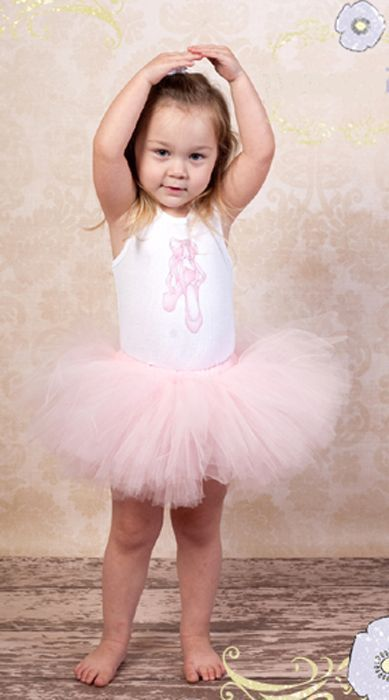 Image 0 of Beautiful Poofy Posh Pink Rosette Pansy Pie Tulle Tutu, Baby Girl/Toddler, USA -