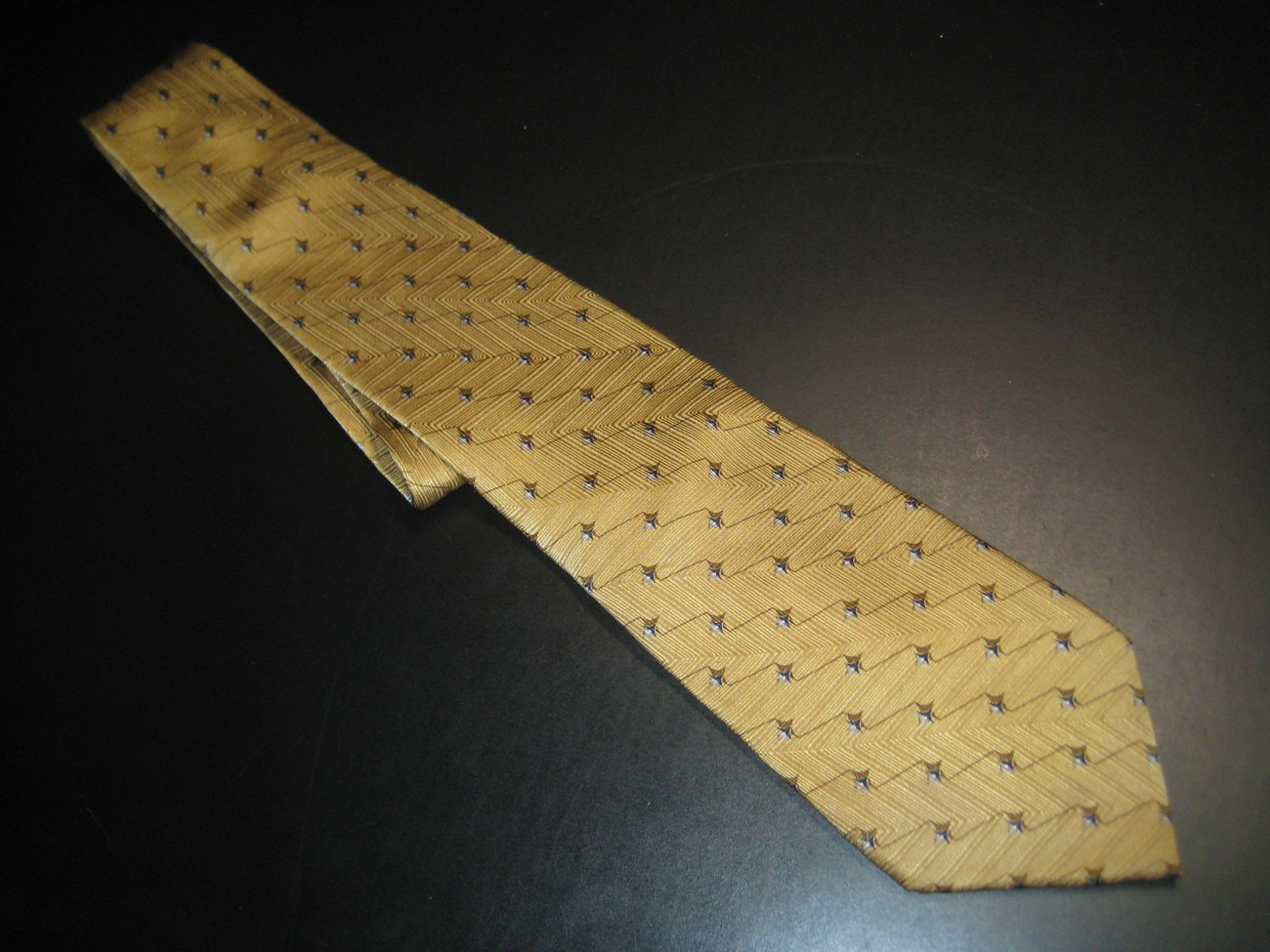 Graham & Lockwood London Silk Neck Tie Golden Browns Graham & Lockwood