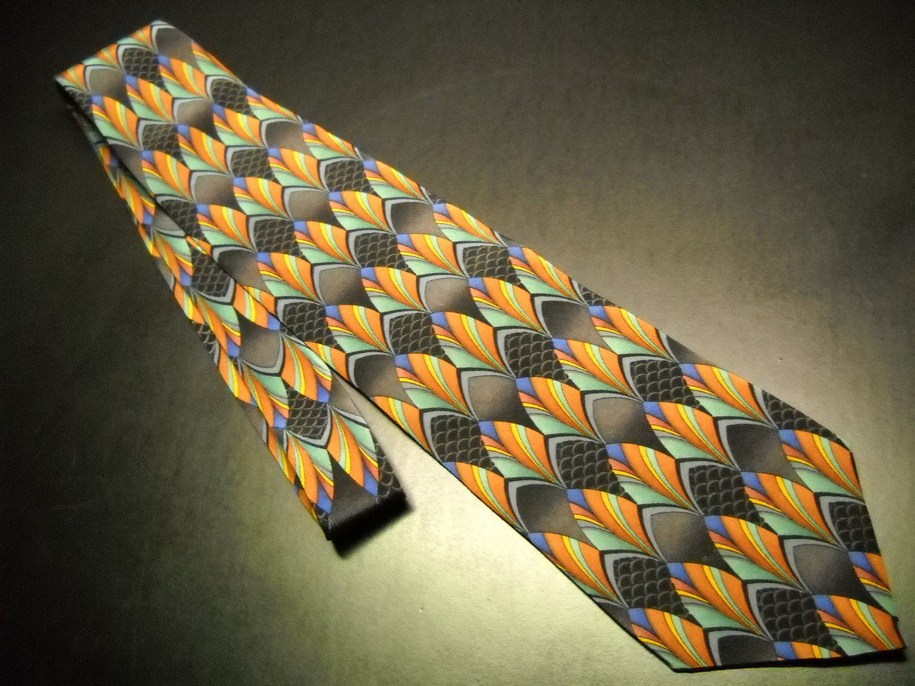 Stonehenge Miracle Expressions Neck Tie AZT Orange Yellows Stonehenge Miracle Expressions