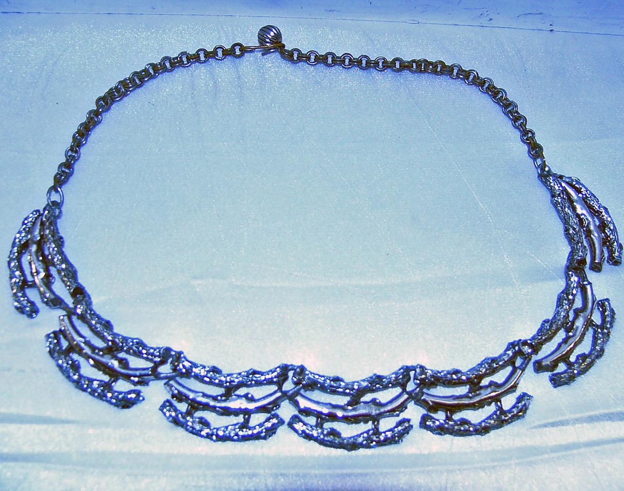 Vintage Aesthetic Silvertone Branches Necklace  Bonanza