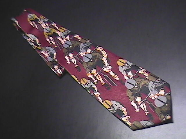 Sette & Bellow Hand Made Neck Tie Repeating Cyclers Sette & Bellow