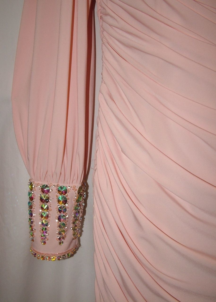 Image 3 of Chic Sexy Vienna Prom Short Powder Pink One Shoulder Beaded Party Dress ZH201 -