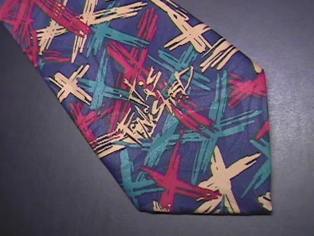Appointed Apparel by Living Epistles Neck Tie Abstract Crosses on Dark Blues Appointed Apparel by Living Epistles