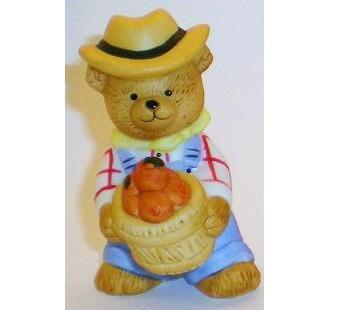 Bronson Figurine Bear Farmer Fred by Katharine Stevenson