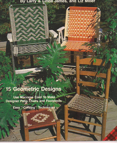 macrame lawn chair patterns macrame lawn chair patterns seats 15 geometric designs 2665
