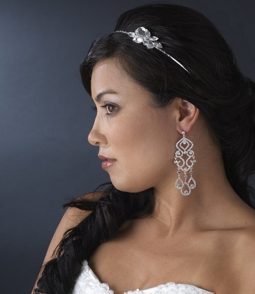 "NWT 4"" CRYSTAL VINTAGE STYLE CHANDELIER BRIDAL EARRINGS"
