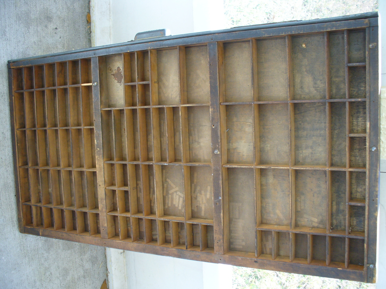 Antique HAMILTON Printers Drawer Tray Shadowbox Curio