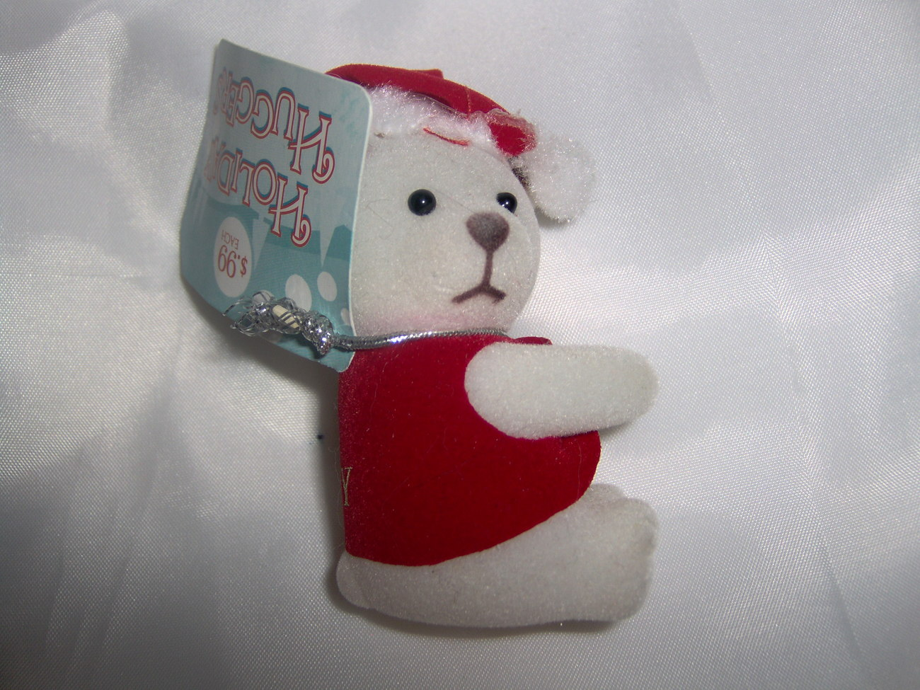 Holiday Huggers Bear in Santa Hat New With Tags Be Jolly