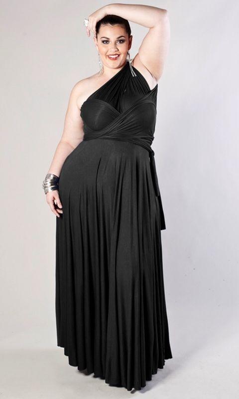 Image 4 of SWAK Designs Sexy Black Eternity Wrap Maxi Dress, Versatile Party Festive Fun -
