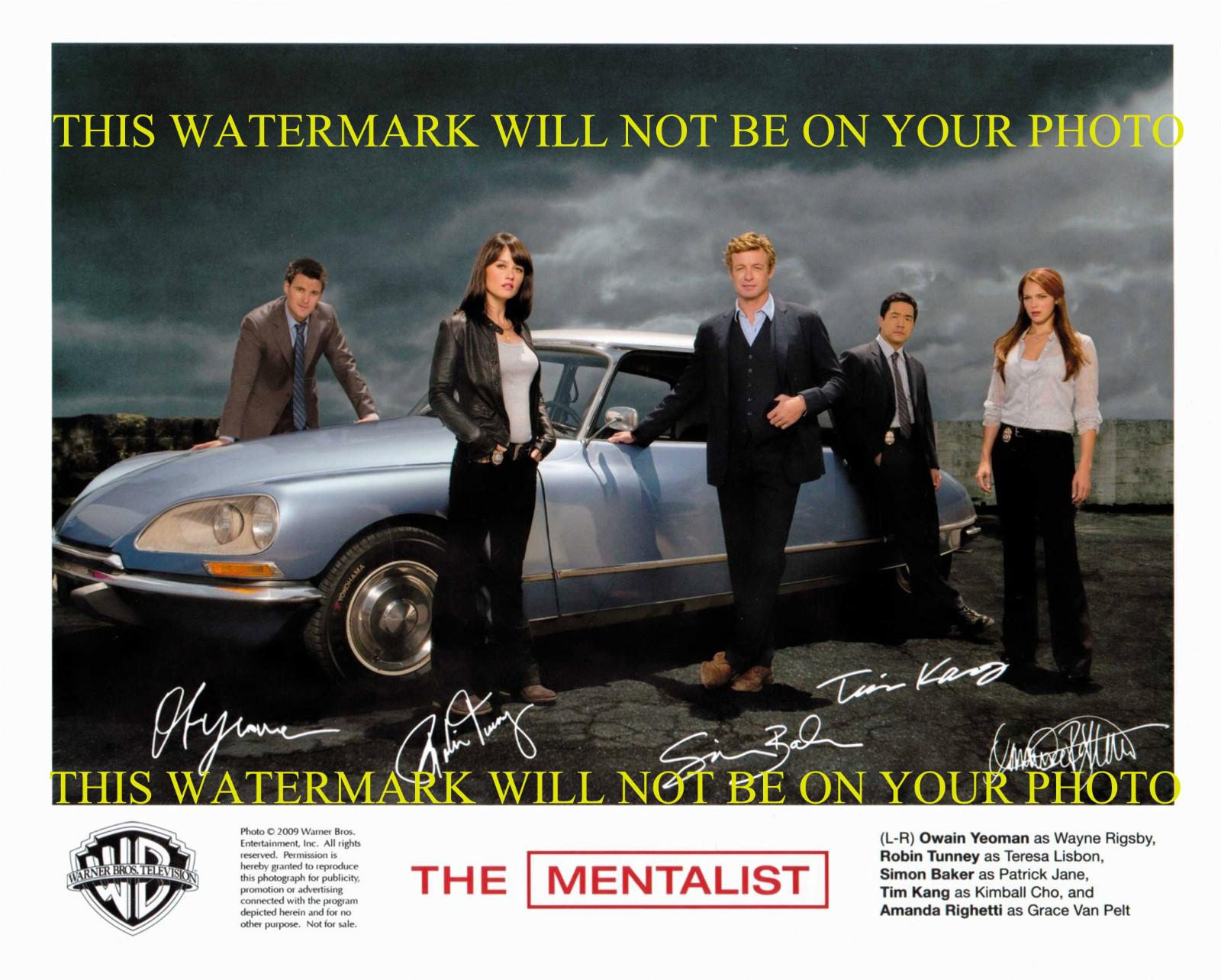 The Mentalist Autographed Cast 8x10 Rp Promotional Photo