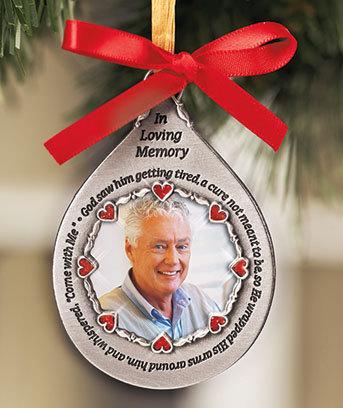 Male Photo Memorial Ornaments - Holiday & Seasonal Decor