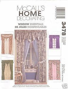 New Window Essentials Curtains Drapes Valance McCalls 3478 Pattern McCall's