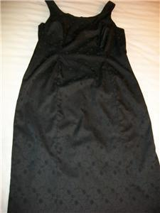 WOMEN MARIAGE BLACK EVENING DRESS SIZE 10 EMBOSSED Attention