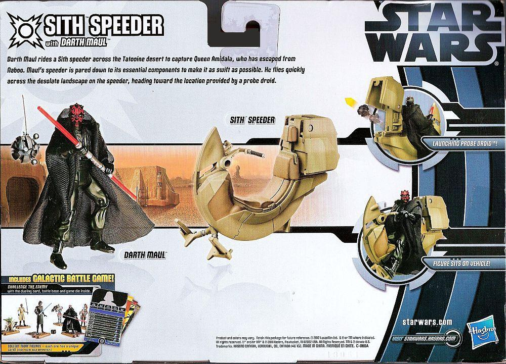 Image 1 of Star Wars Darth Maul with Sith Speeder vehicle action figure set
