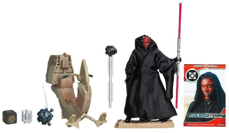 Image 2 of Star Wars Darth Maul with Sith Speeder vehicle action figure set