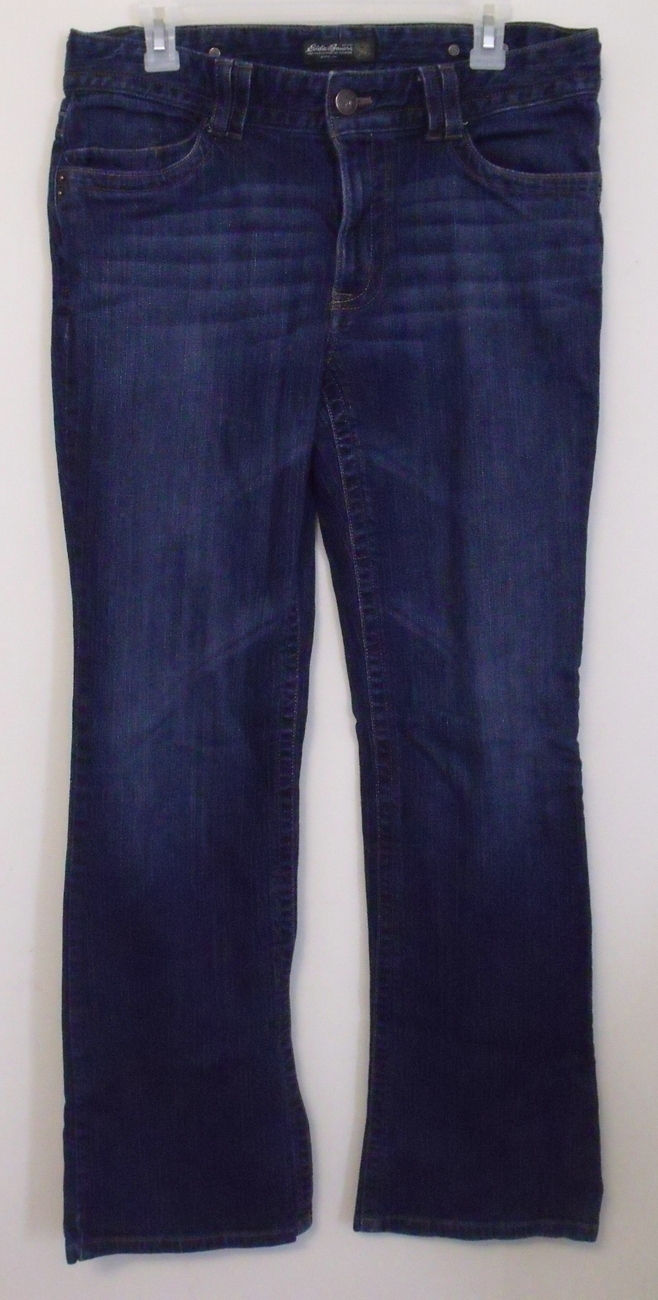 Womens Eddie Bauer Denim Blue Jeans Size 12 Tall