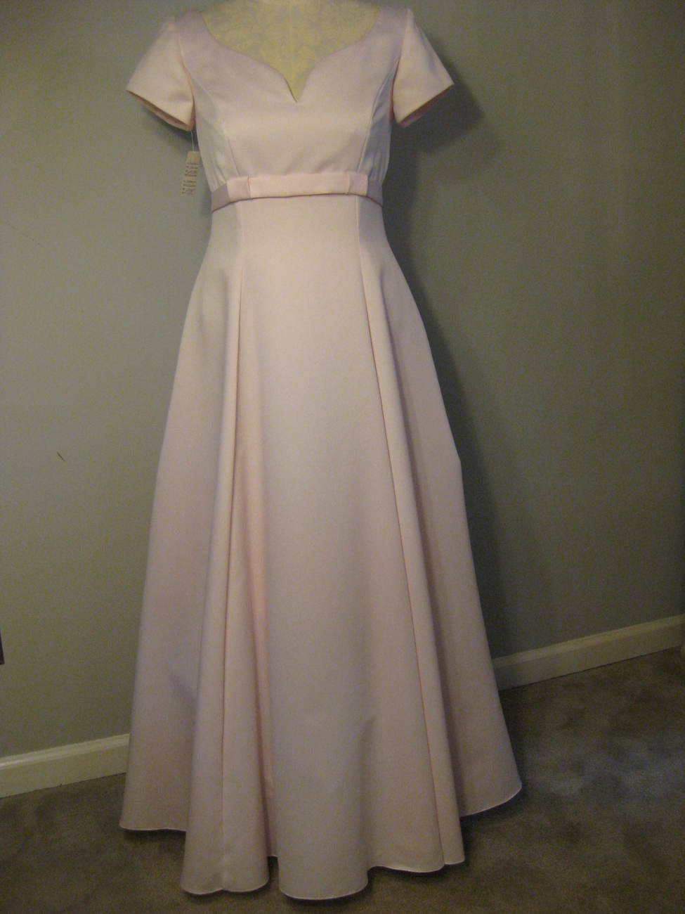 Formal Pink Satin Gown By Jordan Size 11-12 NWT
