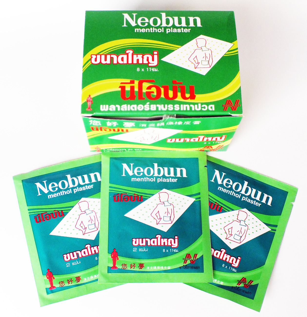 how to use neobun menthol plaster