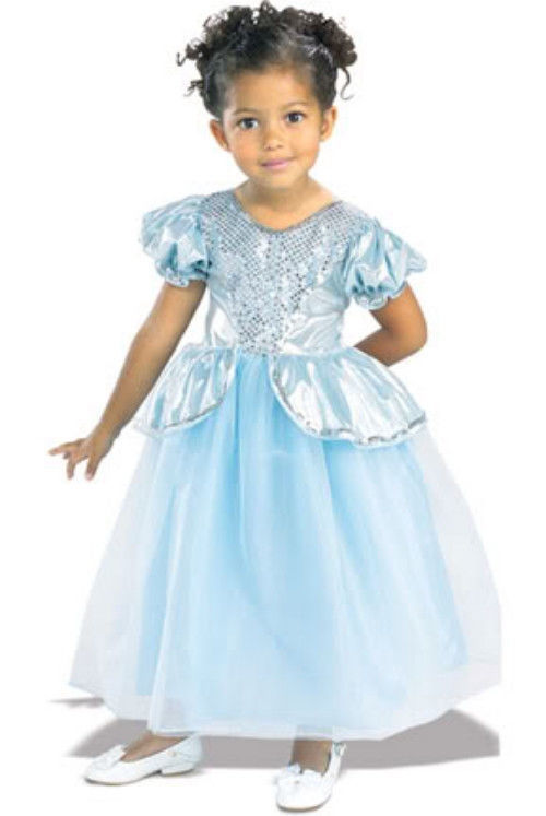 Image 1 of Beautiful Cinderella Palace Princess Aqua Ball Gown Polyester Costume, Rubies -