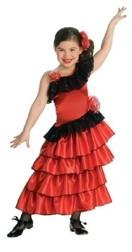 Image 0 of Child's Red and Black Spanish Princess Costume, Rubies
