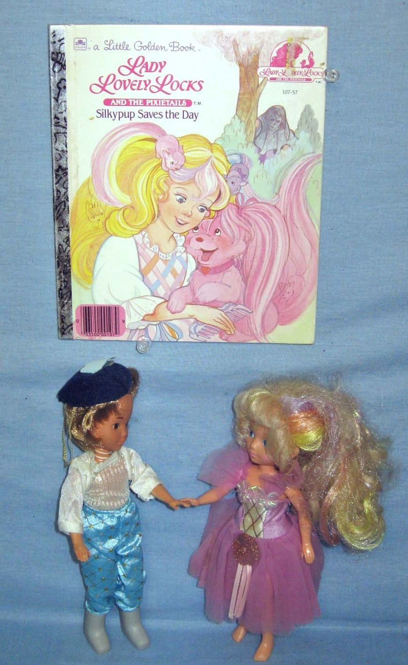 Lady Lovely Locks Ballerina Doll and Prince Strongheart Doll plus book