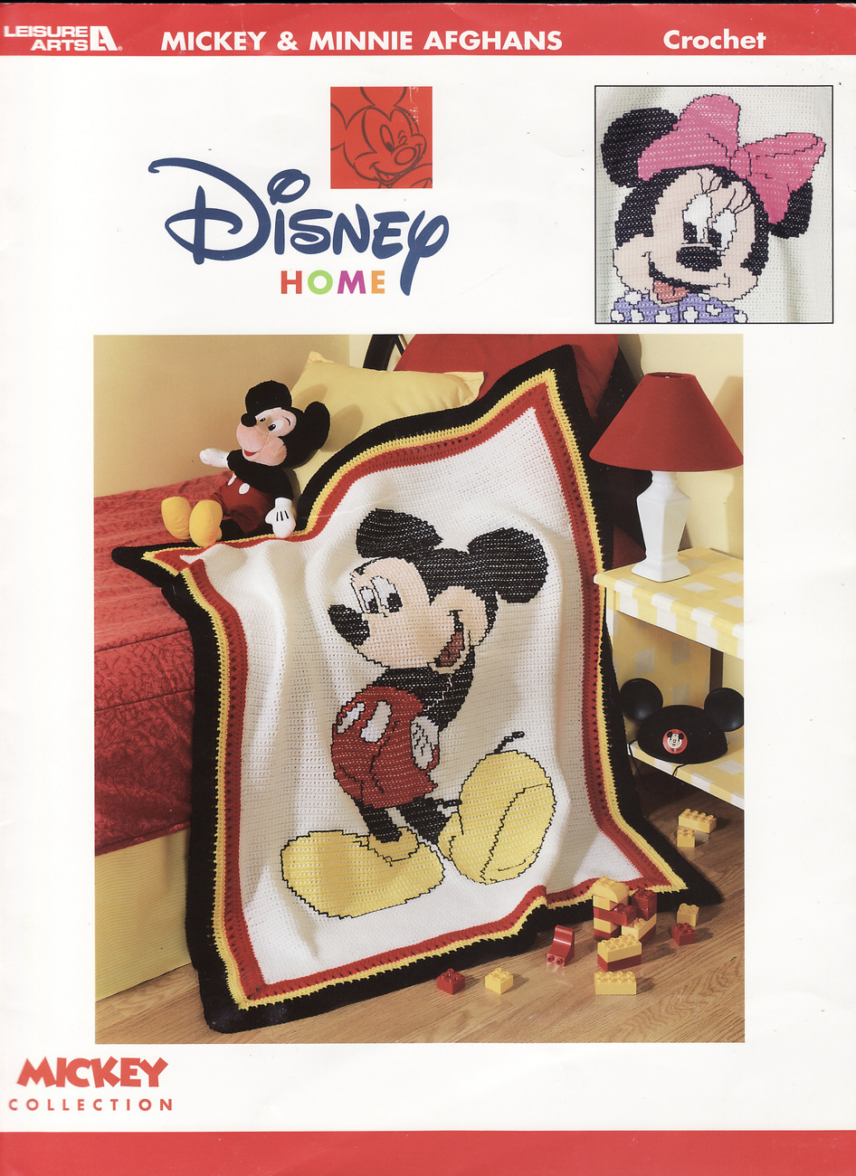 Disney Mickey & Minnie Afghans Crochet Patterns Book Mouse Designs Blankets
