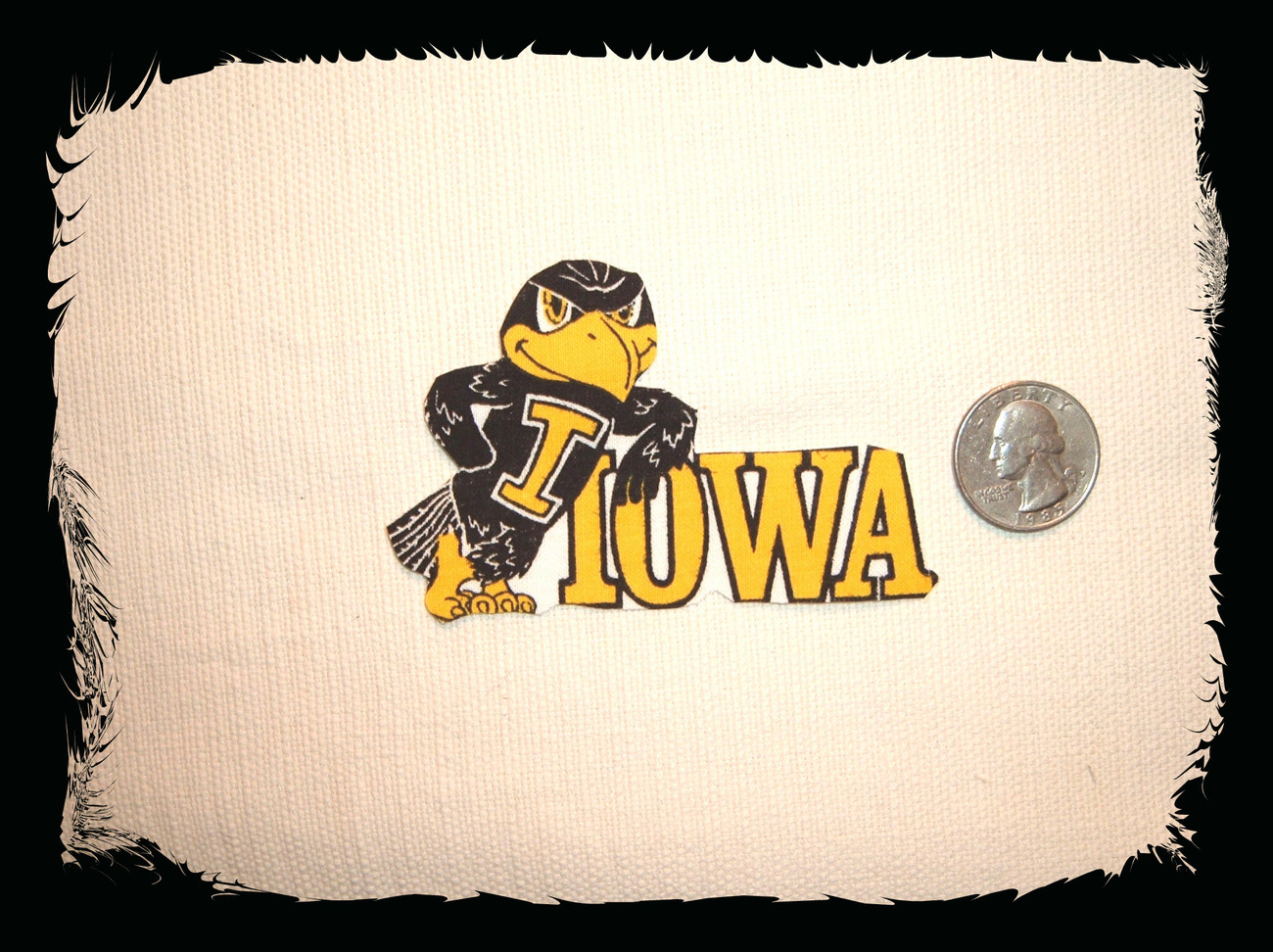 Vintage iowa hawkeyes allover fabric